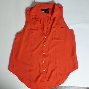 Minkpink sleeveless 100% cotton top orange
